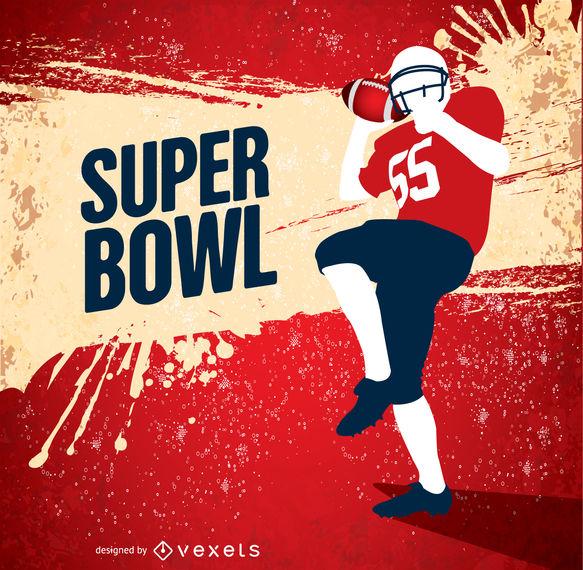 583x570 Super Bowl Grunge American Football Player