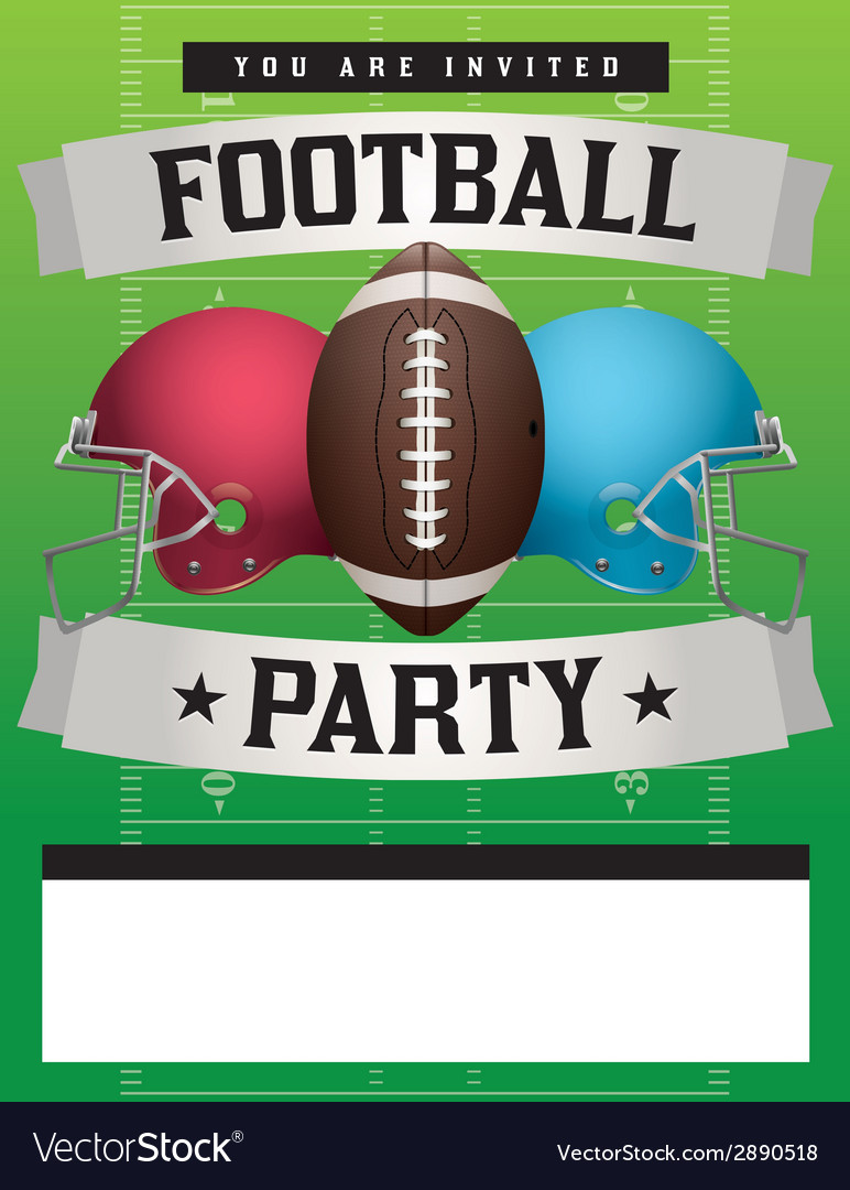 772x1080 Super Bowl Party Flyer Vector Template Free