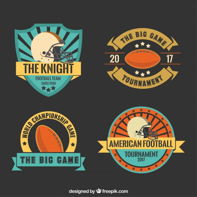 626x626 Cute Super Bowl Badges Pack Vector Free Download