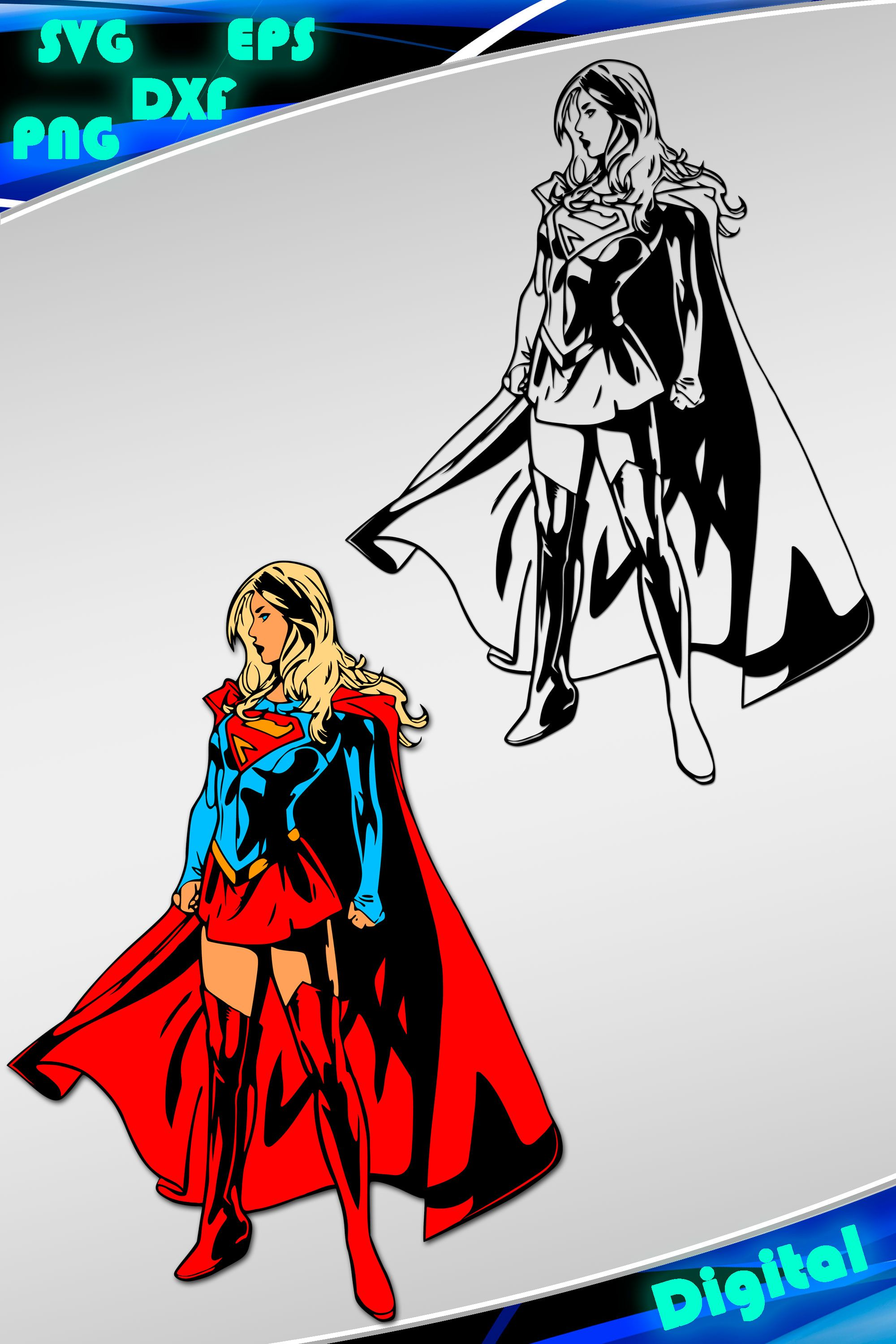 2000x2999 Pin By Vectorprise On Vector Printables Supergirl