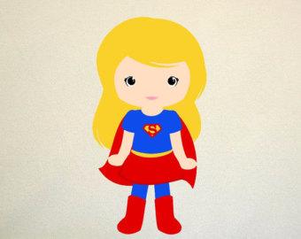 340x270 Super Girl Clipart Digital