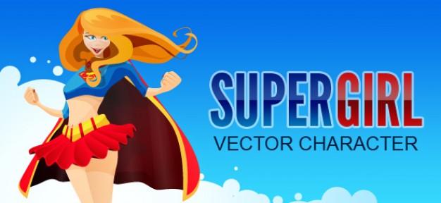 626x288 Superhero Girl Vector Character Vector Free Download