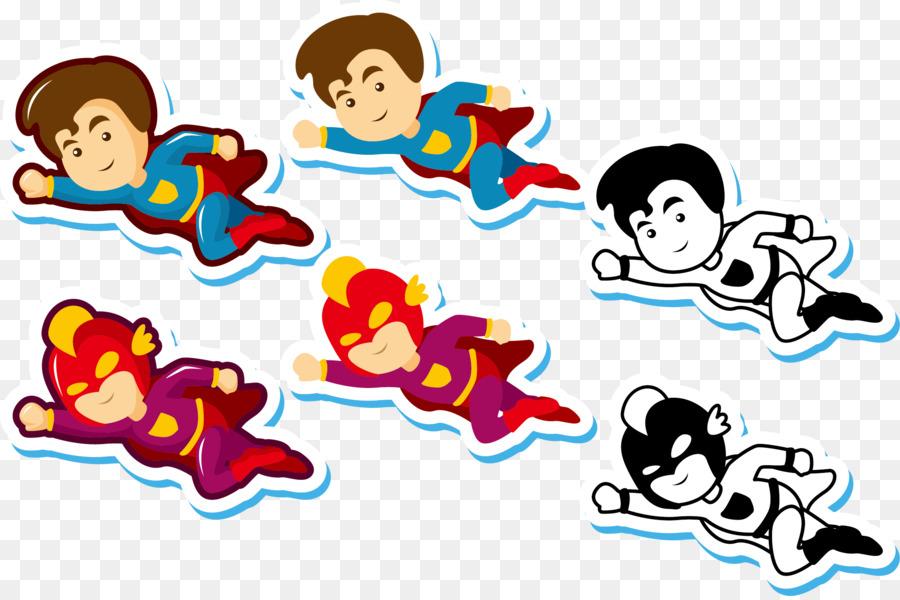 900x600 Clark Kent Flight Supergirl Cartoon