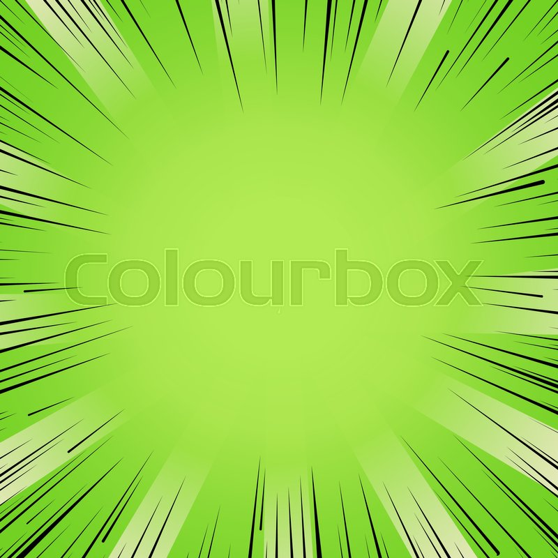 800x800 Abstract Comic Book Flash Bright Green Explosion Radial Lines