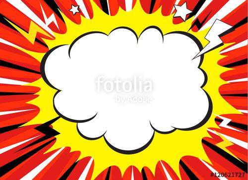 500x363 Comic Book Explosion Superhero Pop Art Style Radial Lines