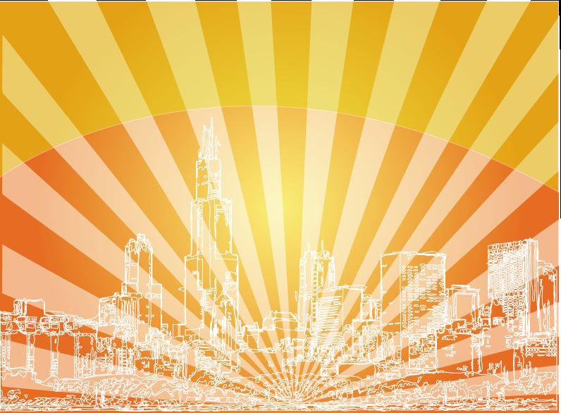 796x586 Red Skyline City Background