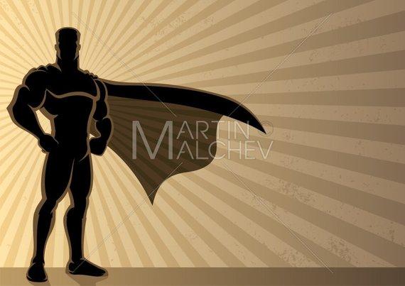 570x403 Superhero Background Vector Cartoon Clipart Illustration. Etsy
