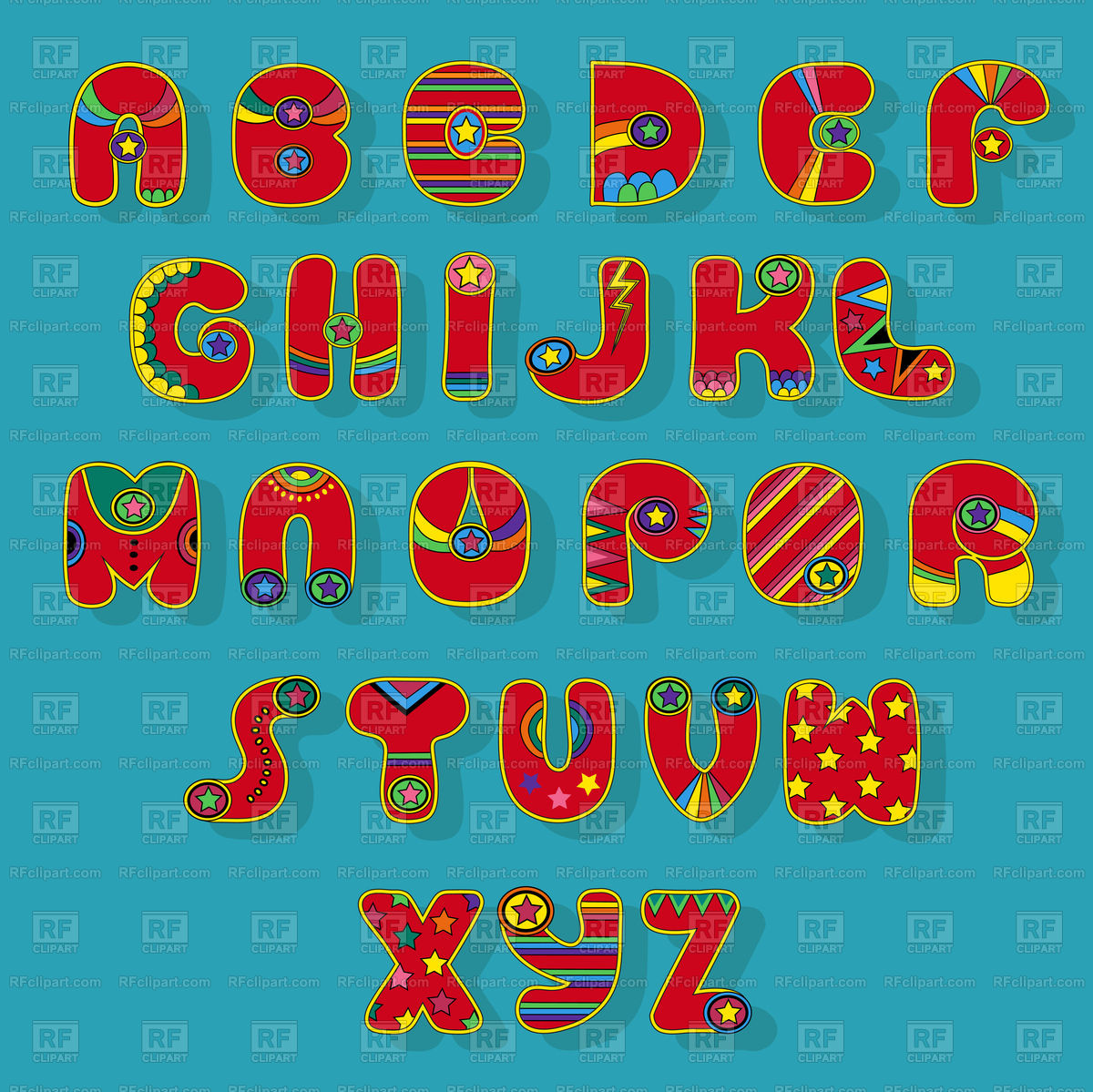 1200x1199 Superhero Font Alphabet On Blue Background Free Vector Image