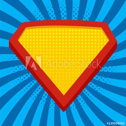 500x500 Superhero Logo Template
