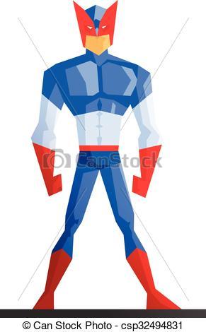 291x470 Superhero. Vector Illustration On White Background. Superhero