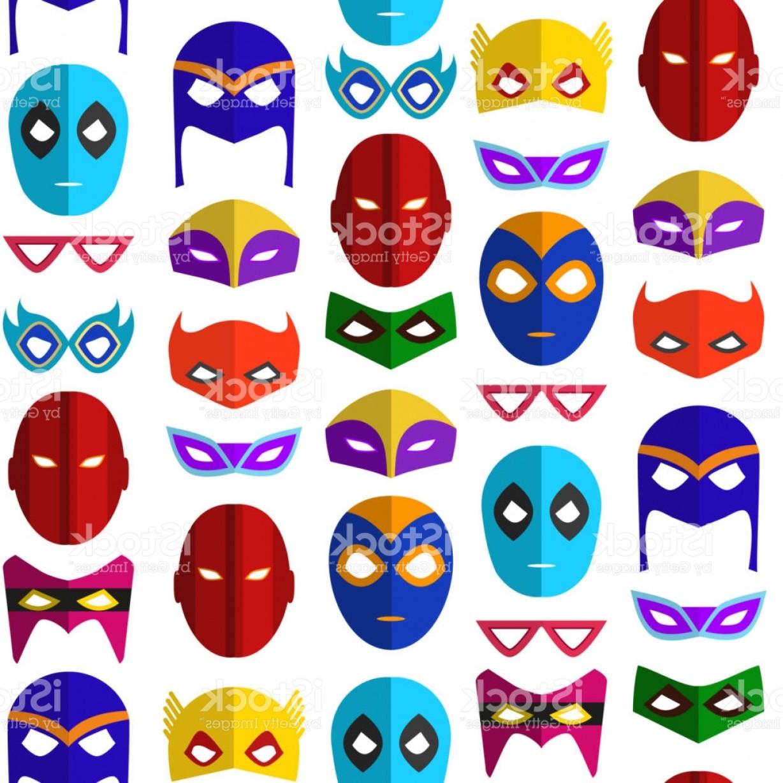 1228x1228 Cartoon Superhero Mask Seamless Pattern Background Vector Gm