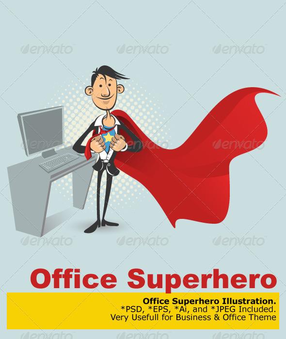 590x700 Office Superhero By Branca Escova Graphicriver