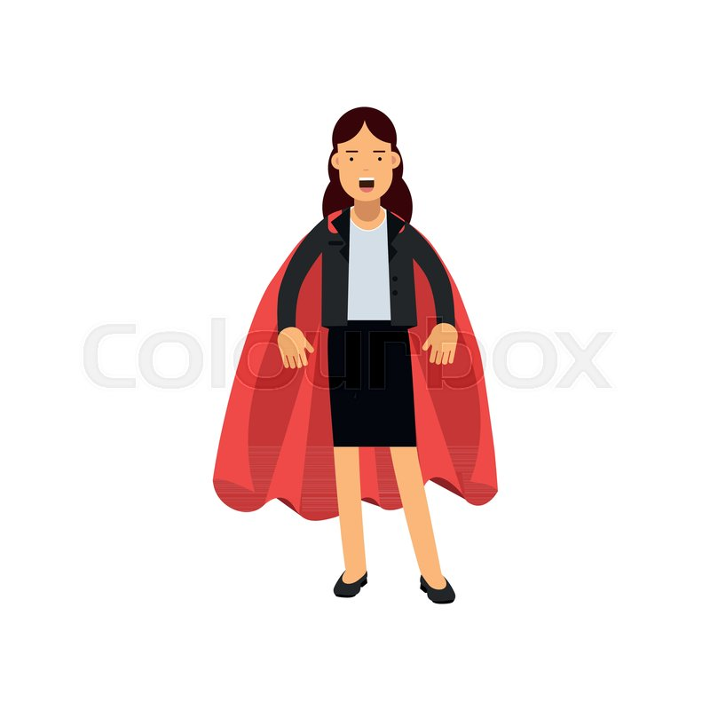 800x800 Successful Business Woman Dressed In Classic Costume With Red