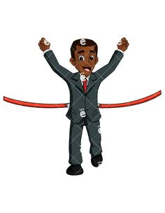 236x304 Black Businessman In Superhero Cape Standing