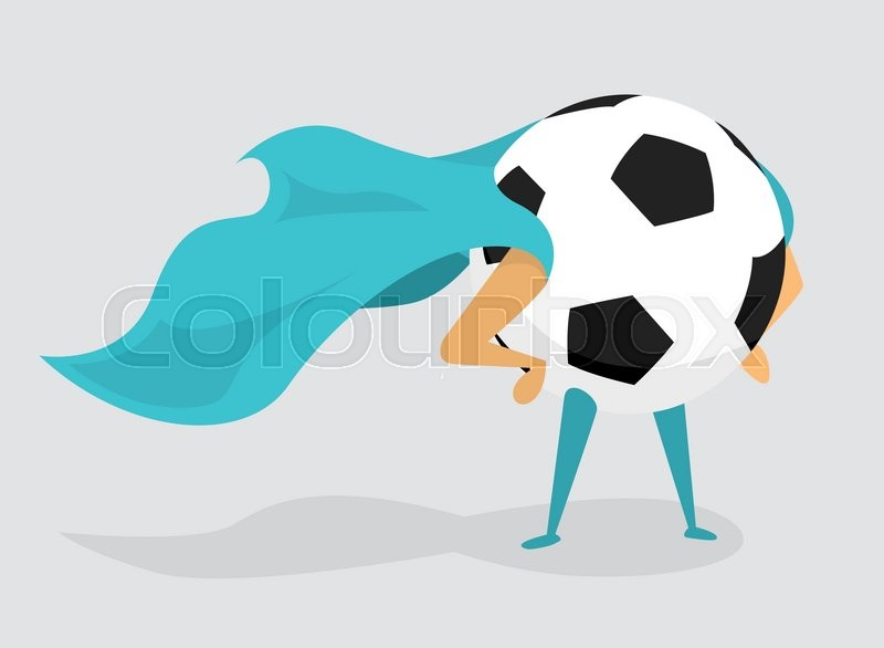 800x586 Cartoon Illustration Of Soccer Ball With Cape As Super Hero