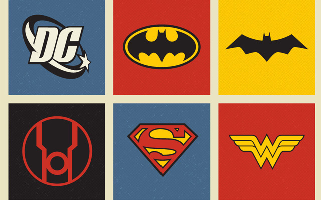 640x400 Free Retro Dc Comics Vector Logo Icons