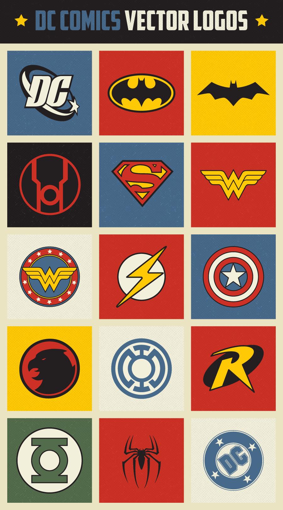 900x1623 Free Retro Dc Comics Vector Logo Icons