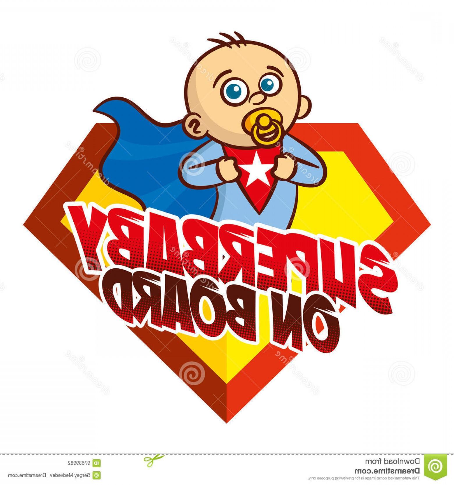 1560x1668 Stock Illustration Super Baby Board Superhero Logo Boy Vector