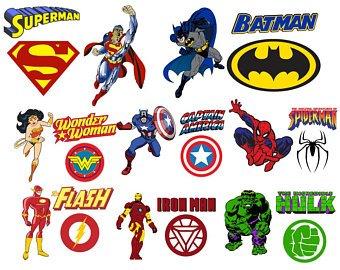 340x270 Super Hero Logo Svgs Etsy