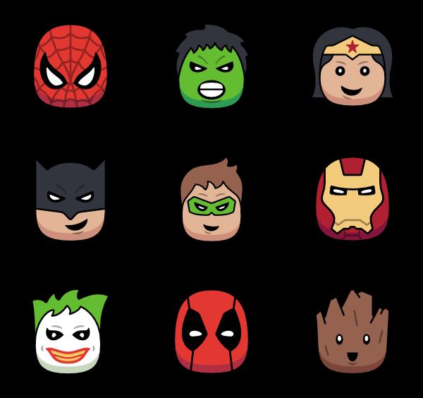 600x564 Superhero Icons