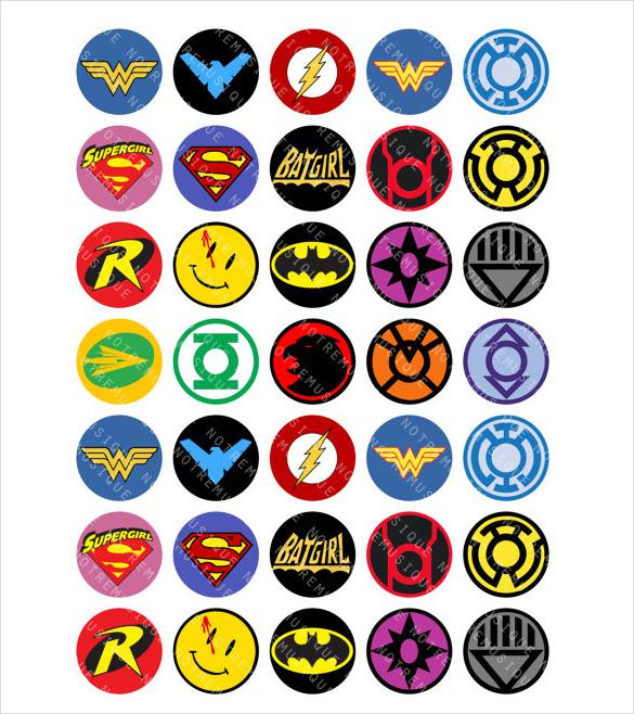 585x658 Superhero Logos Free Eps, Ai, Illustrator Format Download