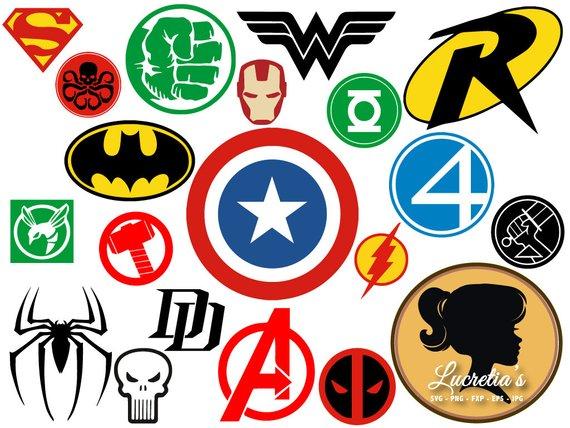 570x428 Superheroes Svg Superhero Eps Superhero Logo Svg Superhero Etsy