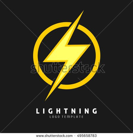 450x470 Yellow Lightning Symbol. Logo Template For Electric Company, And