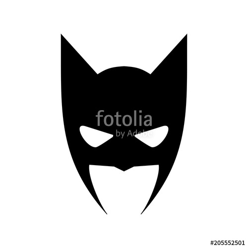 500x500 Portrait Of Angry Man In Superhero Mask Vector Icon Stock Image