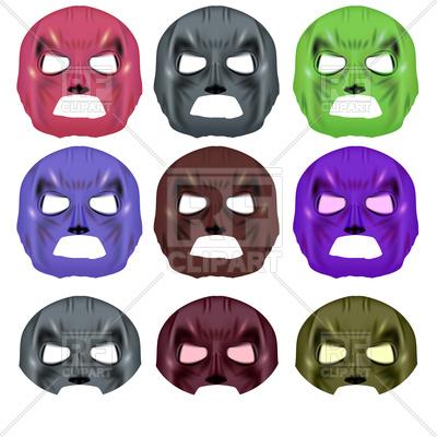 400x400 Set Of Colorful Superhero Mask Vector Image Vector Artwork Of