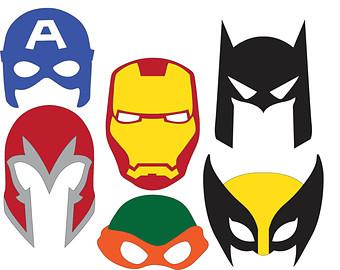 340x270 Superhero Mask Clipart