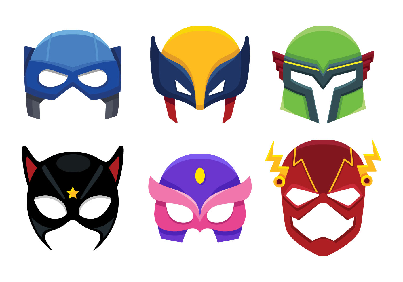 1400x980 Superhero Mask Free Vector Art