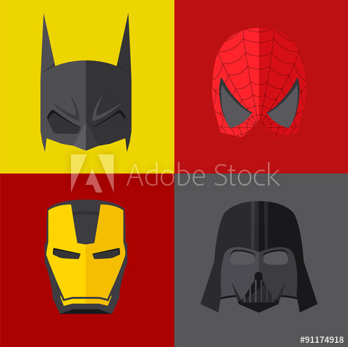 500x499 Superhero Mask On Colored Backgrounds