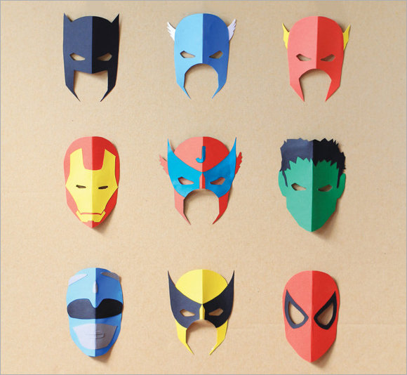 580x534 Superhero Mask Samples Sample Templates
