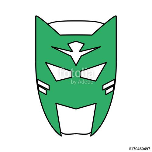 500x500 Superhero Mask Avatar Icon Image Vector Illustration Design