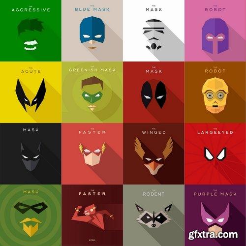 500x500 Collection Of Vector Image Mask Superhero 25 Eps Vector