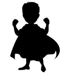 238x250 Silhouette Of A Superhero Vector For School