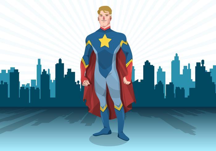 700x490 Standing Superhero Vector
