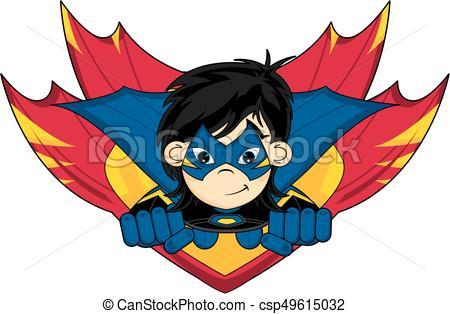 450x314 Cute Cartoon Heroic Superheroes In Winged Shield Vector Illustration.