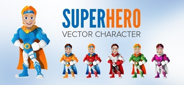 594x274 Superhero Free Vector Download (38 Free Vector) For Commercial Use