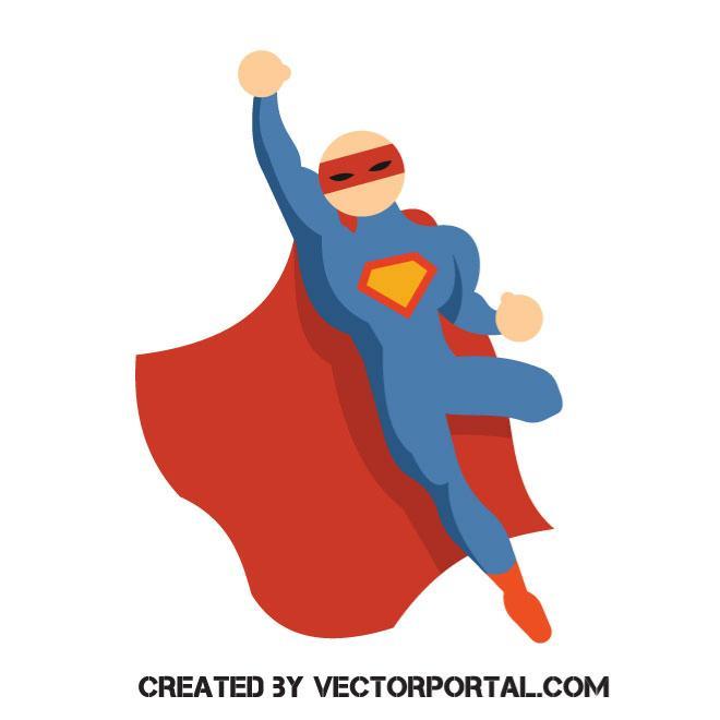 660x660 Superhero Vector Image