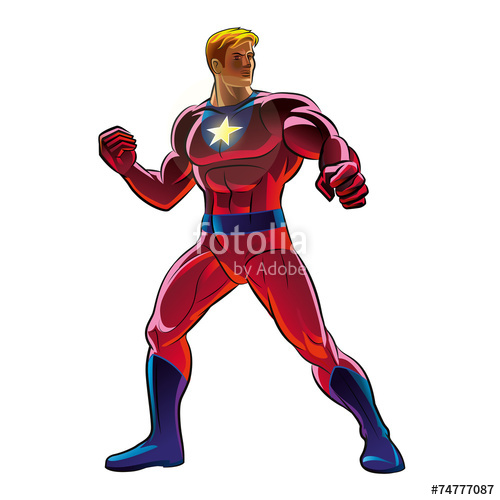 500x500 Superhero. Vector Illustration On A Background Stock Image And