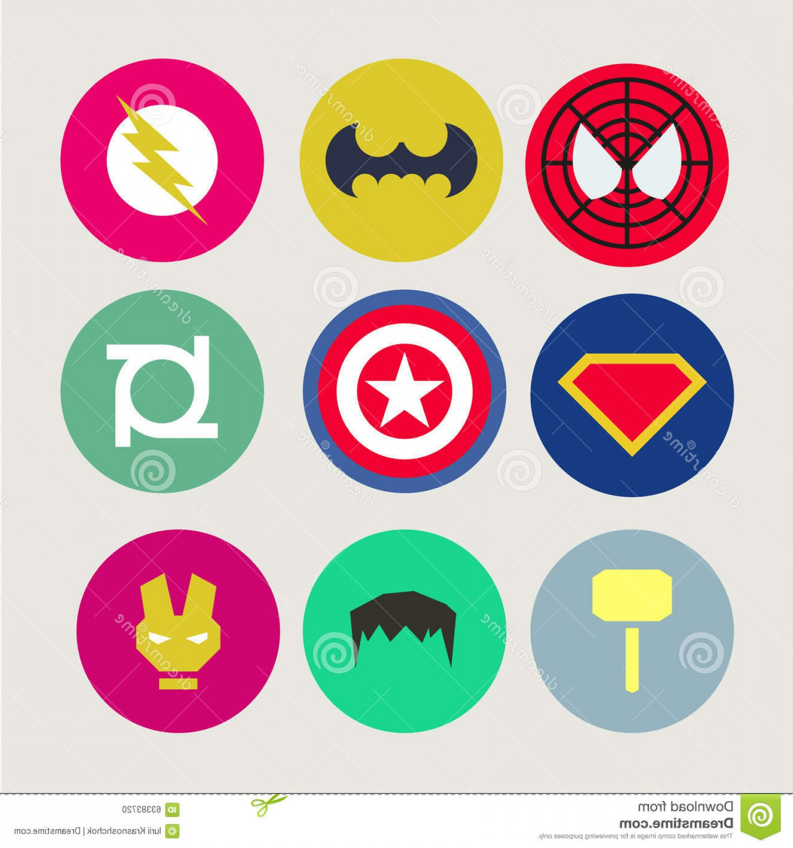1560x1668 Stock Illustration Icons Abstract Tweaked Superheroes