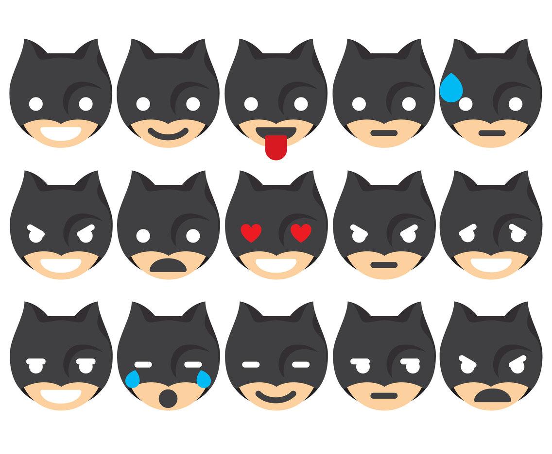 1136x936 Super Hero Emoticons Vector Art Amp Graphics