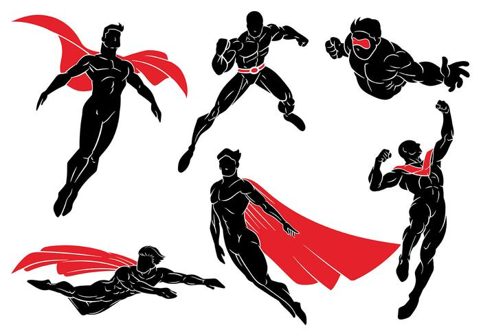 700x490 Super Heroes Vector Icons