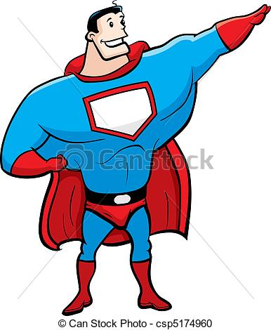 386x470 Cartoon Superhero. A Happy Cartoon Superhero Standing And Smiling.