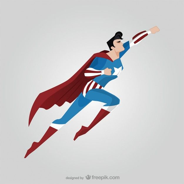 626x626 Side View Of Flying Superhero Free Vector Gimnasio
