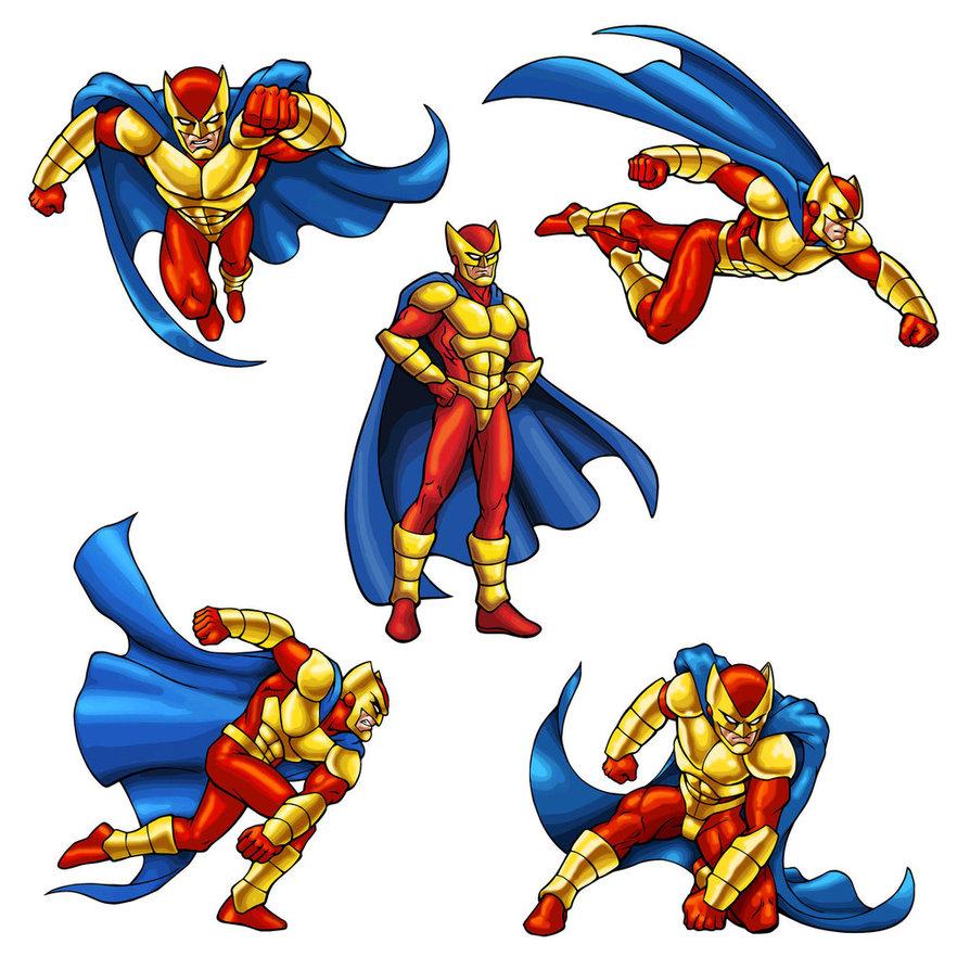 894x894 Super Hero Poses