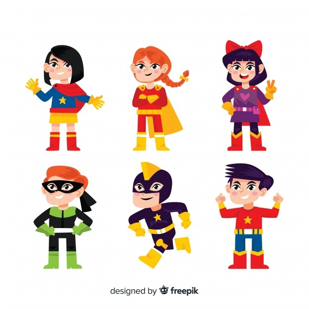 626x626 Cartoon Superhero Clipart Free All About Clipart