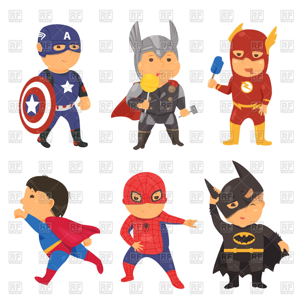 1200x1200 Cartoon Superhero Costume Kids Vector Image Vector Artwork Of