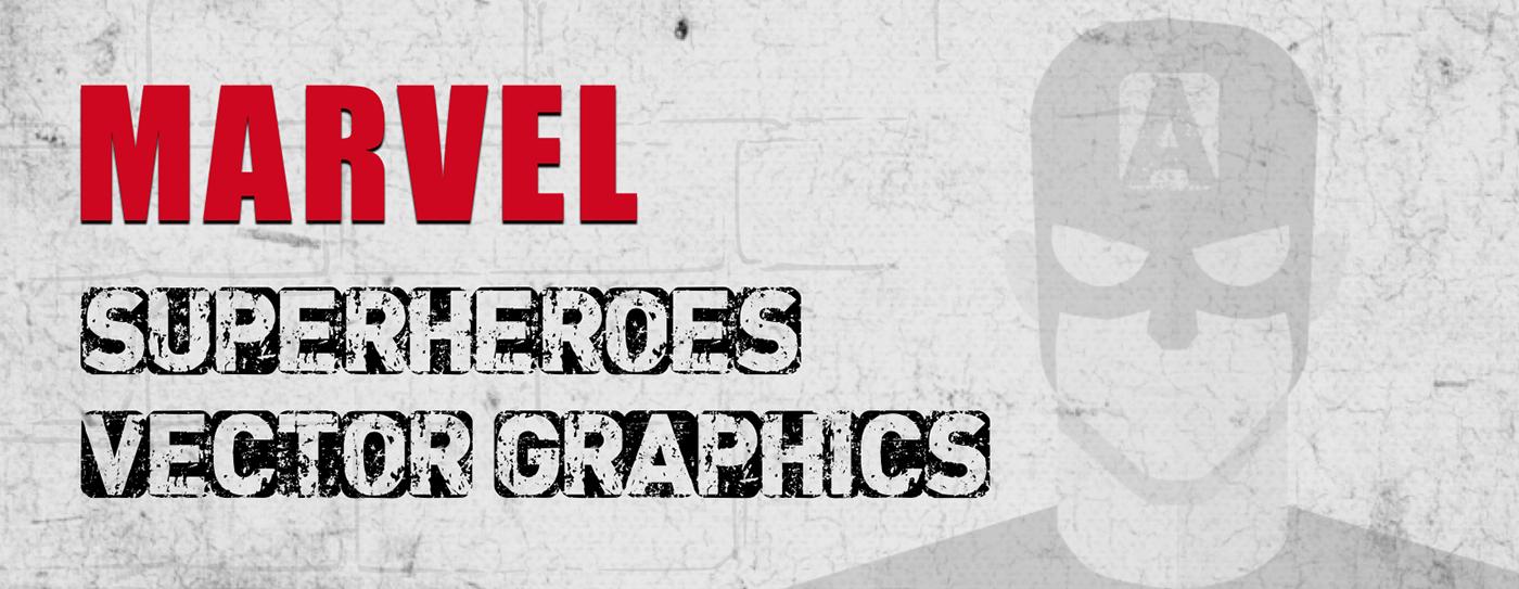 1400x543 Marvel Superheroes Vector Design On Behance